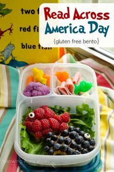 One Fish Two Fish Red Fish Blue Fish Dr. Seuss Lunchbox | packed in @EasyLunchboxes