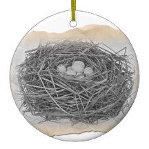 Birds Nest Ornament With Poem