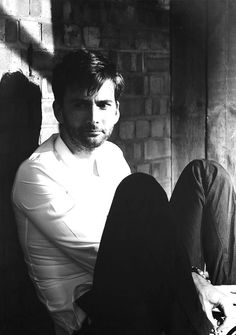 David Tennant looking thoughtful.....and...sexy.