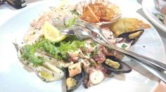 Fish's food in Italy,Calabria at Villapiana Lido...good and low price