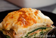 Lasagne with spinach and salmon