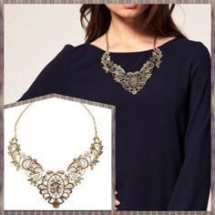 Lace filament necklace- $15 order at Facebook.com/ellajamesshop