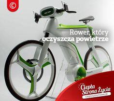 Czy jadąc rowerem po ulicy zastanawialiście się, czy aby na pewno jazda na rowerze i oddychanie spalinami wyjdzie Wam na zdrowie? Projektanci z Bangkoku z Lightfog Creative and Design znaleźli i na to sposób. Wymyślili rower, który na kierownicy posiada urządzenie zagarniające zanieczyszczone powietrze. Co więcej rama roweru jest zbudowana tak, że naśladuje proces fotosyntezy, dzięki czemu produkowany jest tlen. W trakcie jazdy rower dmucha w stronę kierowcy czystym, natlenionym powietrzem