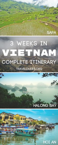 A 3-week guide to traveling the full length of Vietnam, including stops in Sapa, Hanoi, Halong Bay, Hoi An, Ho Chi Minh City and more. The ultimate Vietnam backpacking route. Travel in Southeast Asia. | Travel Dudes Travel Community #Travel #Vietnam #ITravel