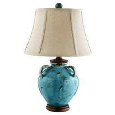 Arabella Table Lamp, Turquoise, home decoration,