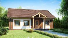 Projekt domu Z61 D Tani i łatwy w budowie dom parterowy także na małą działkę bez okien w ścianach Malaga, Shed, Outdoor Structures, House Styles, Outdoor Decor, Home Decor, Houses, Homemade Home Decor, Homes