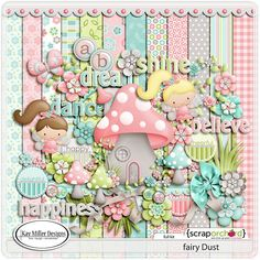 Fairy Dust Kit by Kay Miller. who will make frequent appearances on this board one of my first and all time fave digiscrap artists! Digital Scrapbook Paper, Baby Scrapbook, Scrapbook Paper Crafts, Scrapbooking Kit, Digital Papers, Fairy Dust, Banners, Cute Scrapbooks, Owl Clip Art