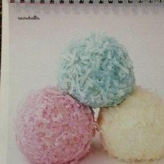 Snowball cake balls