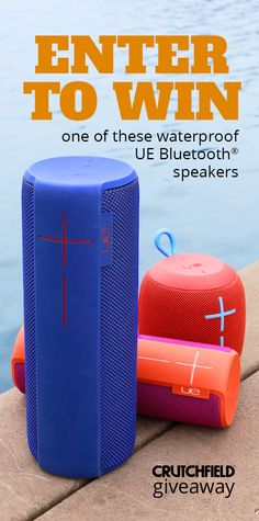 Thru 6/6 enter our UE Bluetooth speaker giveaway. You'll have a chance to win a BOOM 2, a MEGABOOM, or a WONDERBOOM speaker. Each features an impressive battery life, serious sound quality, and best of all, they're waterproof — so don't be shy about taking one of these colorful speakers to (or in!) the pool.