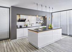 Marrakech, Metro White, Under Counter Lighting, White Gloss Kitchen, German Kitchen, French Country Kitchens, Kitchen Flooring, Home Decor Inspiration, Decoration