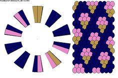 Strings: 20 Colors: 3 K3954 - friendship-bracelets.net