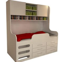 Aurora Mid Sleeper Storage Bed
