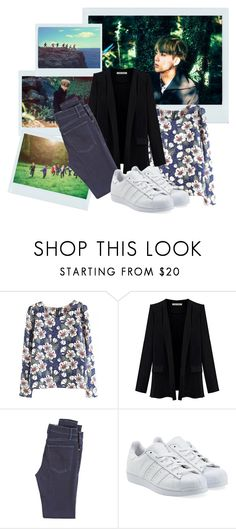 """BTS - Jin - Concept Photos - Papillon"" by schnpri ❤ liked on Polyvore featuring McGuire Denim, adidas Originals, kpop, bts, BangtanBoys, jin and kpopoutfits"