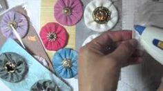 DIY Tutorial Fabric Flowers / Vintage fabric flowers tutorial - YouTube - Bead&Cord