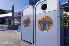 In a obvious Mouse-generated move for synergy, you can now spot the logo for Disney's new Tomorrowland film on trash cans in… wait for it… Tomorrowland!