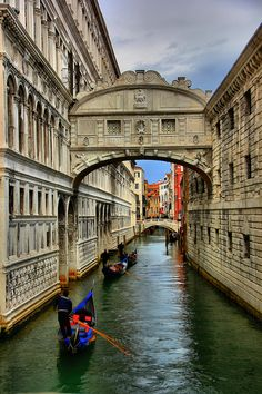 The Bridge of Sighs, Doges Palace, Venice. OK, OK, even we admit this beats the Venetian in Las Vegas hands down