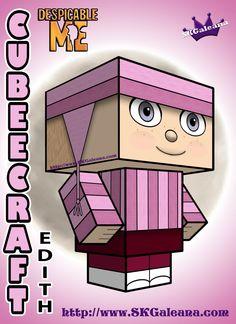 Despicable Me Edith Cubeecraft 3D by SKGaleana