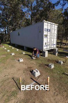 Jovem transforma velho contentor de carga numa incrível casa de campo