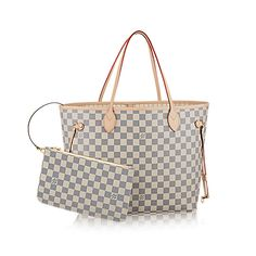 LOUIS VUITTON - €855.00 Neverfull MM Damier Azur Canvas - Women's Bags - Shoulder Bags and Totes http://it.louisvuitton.com/ita-it/prodotti/neverfull-mm-damier-azur-008109