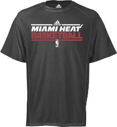 Miami Heat Charcoal Heather ClimaLite Performance Shirt by Adidas $27.95