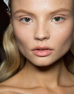 Totally Neutral Makeup  Eyes, Cheek & Lips  No Makeup Trend for Spring Summer 2013.  Salvatore Ferragamo Spring Summer 2013.  #makeup #trend