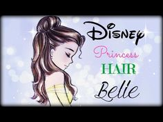 How to draw and color Disney Princesses Hair ❤ Belle