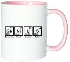 Mister Merchandise Kaffeetasse Becher Genius Periodentafel Chemistry Teetasse, verschiedene Farben - http://geschirrkaufen.online/mister-merchandise/weiss-rosa-mister-merchandise-kaffeetasse-mathe