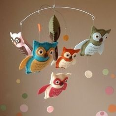 Owl Mobile from Etsy.com. There is just something about the owl theme that gets me.
