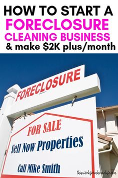 How To Start A Foreclosure Cleaning Business This Work From Home Life - Real Time - Diet, Exercise, Fitness, Finance You for Healthy articles ideas Work From Home Jobs, Make Money From Home, House Cleaning Tips, Cleaning Hacks, Home Cleaning Services, Cleaning Contracts, Starting A Business, Business Planning, Business Ideas