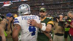 Watch Dak Prescott briefly meet with Aaron Rodgers after Cowboys lose http://cstu.io/554fb6