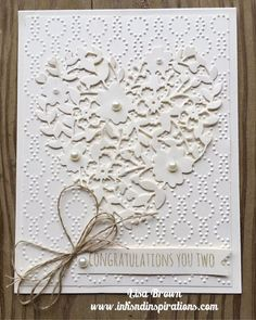 Here's a Wedding Card Idea with Stampin' Up! Bloomin' Heart