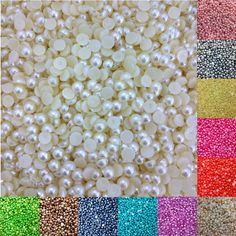 LNRRABC Sale 600 piece/lot FlatBack Acrylic Imitation Pearl beads For DIY Decoration jewelry accessories Pearl Nail Art, Pearl Nails, Fashion Beads, Prego, Artificial Nails, Diy Jewelry Making, Acrylic Beads, Pearl Beads, You Nailed It