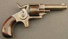 """.22 short r.f. caliber , 7 shot single action pocket pistol, side hammer, solid flat frame with sideplate, 2 3/8"""" octagonal barrel, birdhead grips, marked FOREHAND & WADSWORTH, WORCESTER, MASS. PAS. SEPT. 24 & COT. 22, 1861, production about 1.000 in the 1870s"""