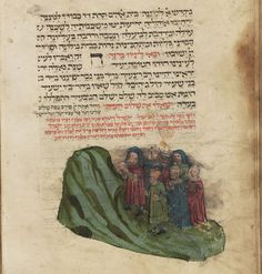 Collection of four separate works. Germany, 1434. Hamburg State and Univ. Library. a. Mahzor b. Calendrical calculations c. Poems (piyutim) for Tisha b'Av d. Book of customs (Minhagim)