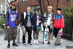 Here are a group of skaters that we met recently in Harajuku wearing fashion that you probably won't see in many places on Earth. Make sure you check out the FULL SIZED version of the photo for full effect. Operating the camera on this day was the one-and-only Kira.