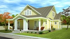 Cottage With Flexible Bedrooms - 15051NC | Cottage, Country, Traditional, Vacation, Narrow Lot, 1st Floor Master Suite, CAD Available, PDF | Architectural Designs