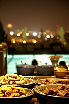 Check out out good-looking BBQ dishes ! #grandhyattseoul #poolsidebbq