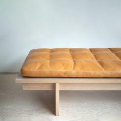 Mjölk Daybed is a minimalist daybed created by Toronto-based designer Thom Fougere for Mjölk Daybed Design, Chair Design, Design Design, Living Room Furniture, Home Furniture, Furniture Design, Modern Furniture, Modern Daybed, Modern Chairs