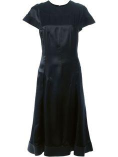 ESTEBAN CORTAZAR Draped Satin Dress. #estebancortazar #cloth #dress