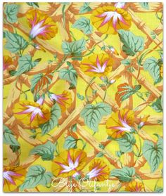 Westminster Philip Jacobs Morning Glory PJ08 Yellow Fat Quarter OOP