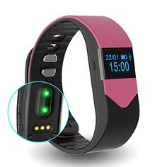EIISON Fitness Tracker with Heart Rate monitor E3S Activity Watch Step Walking Sleep Counter Wireless Wristband Pedometer Exercise Tracking Sweatproof Sports Bracelet for Android and iOS  Pink >>> You can get additional details at the image link. (Note:Amazon affiliate link)