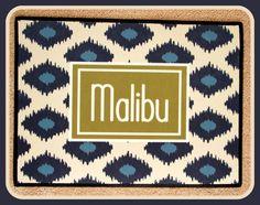 Golf Gift Personalized Door Mat Blue Ikat Design by ChicMonogram, $45.00