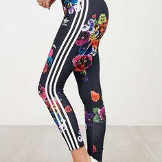 Adidas Originals Fashion Print Exercise Fitness Gym Yoga Running Leggings Sweatpants
