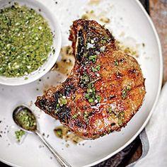 Double Thick-Cut Pork Chops | MyRecipes.com