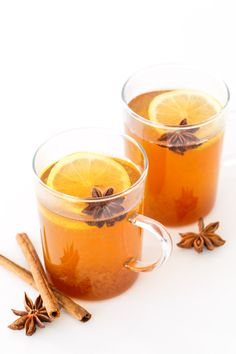 Spiced Chamomile Hot Toddy - A twist on a classic winter cocktail recipe