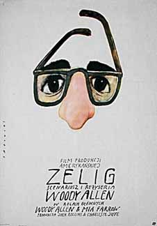 """Directed by Woody Allen. With Woody Allen, Mia Farrow, Patrick Horgan, John Buckwalter. """"Documentary"""" about a man who can look and act like whoever he's around, and meets various famous people."""