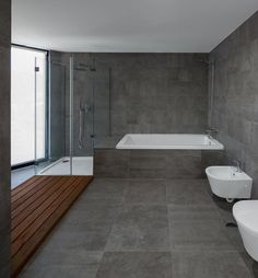 PALETTE PROFILE - A Gray, White, And Wood Bathroom By Pedro Henrique