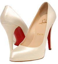 Christian Louboutin Wedding Shoes   Christian Louboutins Decollete ivory wedding shoes ...