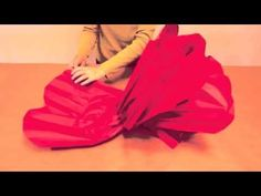 ▶ How to Make GIANT Tissue Paper Flowers - YouTube. FElicia VAn Bork and GIANT flowers. Very artsy. Can use for table centers because glued into tray.