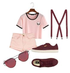 """Untitled #16"" by mburghardt on Polyvore featuring Current/Elliott and Puma"